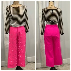 Boohoo Nights pink pants with pear detail size 2